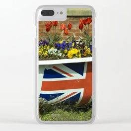 Flower Bath Clear iPhone Case