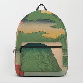 Mountain and Sea Ukiyoe Landscape Backpack