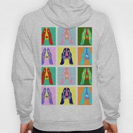 Basset Hound Dog Pop Art Hoody