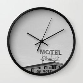 Sunset Motel Wall Clock