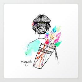 MICI Girls March issue 2016 Art Print