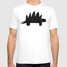 Stegosaurus White SMALL Mens Fitted Tee