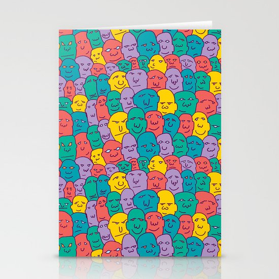 FACES OVER AND OVER Stationery Cards