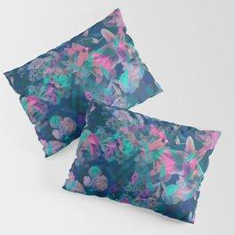 Geometric Floral Pillow Sham
