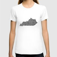kentucky T-shirts featuring Typographic Kentucky by CAPow!