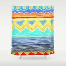 Sunrise Geometrics Shower Curtain