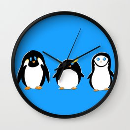 Penguin Brother From Another Mother Wall Clock