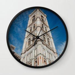 De Cattedrale di Santa Maria del Fiore | The beautiful city of Florence | Travel photography art print Wall Clock