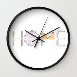 'Home' - Typography 002 Wall Clock