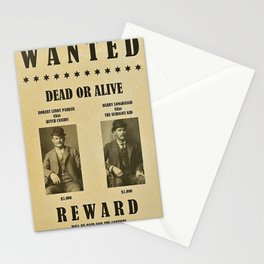Butch Cassidy and the Sundance Kid Wanted Poster Dead or Alive $5,000 Reward Each Stationery Cards