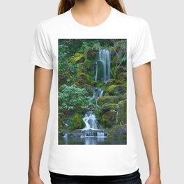 Picture USA Portland Japanese Oregon Nature Waterfalls Gardens Moss stone Stones T-shirt