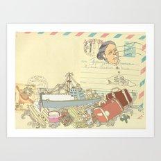 Great-grandmother's secret Art Print