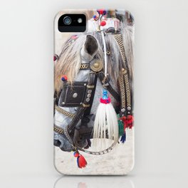 Bali horse iPhone Case