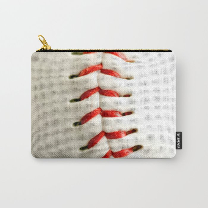 Base Ball Close Up Carry-All Pouch
