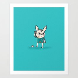 Overworked Art Print