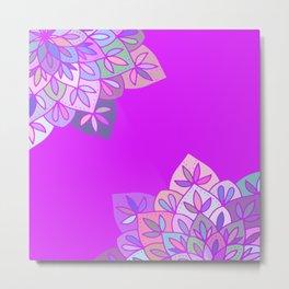Ultra violet mandala Metal Print