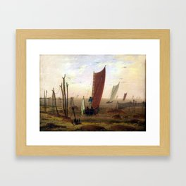 Caspar David Friedrich Morning Framed Art Print