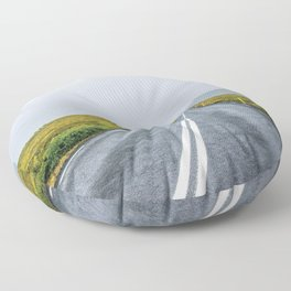 The Road Less Travelled Floor Pillow