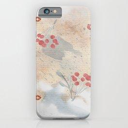 Vintage botanical berry rusty hinge pattern iPhone Case