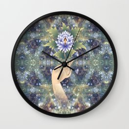 flower sermon of the Buddha Wall Clock