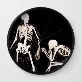 Eruri: Twin Skeletons Wall Clock