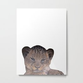 baby cheetah Metal Print
