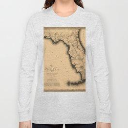Map Of Florida 1823 Long Sleeve T-shirt