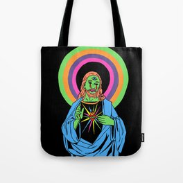 Blacklight Jesus Tote Bag