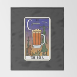 Beer Reading Throw Blanket