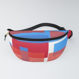 blocks of red and blue Fanny Pack