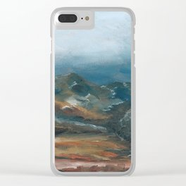 Storm brewing over rural landscape Clear iPhone Case