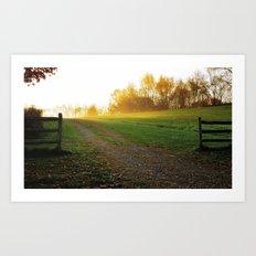 Heavens gate Art Print