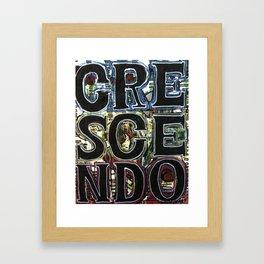crescendo Framed Art Print