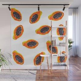 Papayas ricas! Wall Mural