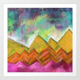 Autumn Mountain Peaks Art Print