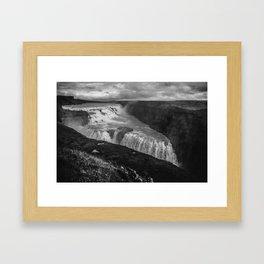 Gulfoss Waterfall in Iceland Framed Art Print