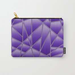 'Quilted' Geometric in Purple Carry-All Pouch