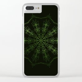 green sun Clear iPhone Case