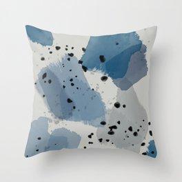 Brushstroke Blues Throw Pillow