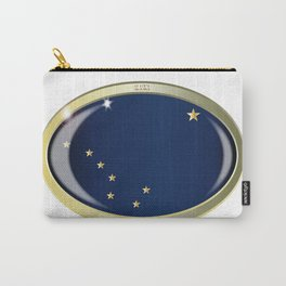 Alaska State Flag Oval Button Carry-All Pouch