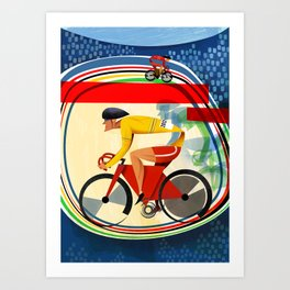Track Cycling Championship Poster Cycle Bike Art Print