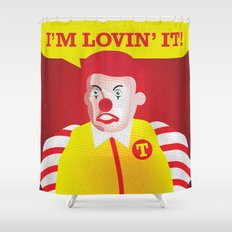Mc Donald Trump Shower Curtain