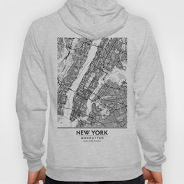 New York City Showing Manhattan, Brooklyn and New Jersey Hoody