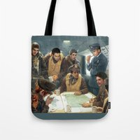 teen wolf Tote Bags featuring Teen Wolf Pilot AU by DeadPlants