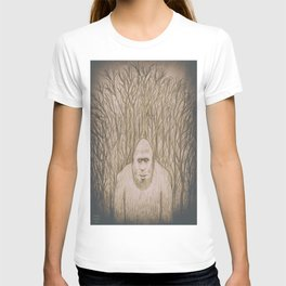 Sasquatch in the woods T-shirt