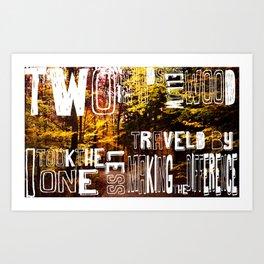 two roads  Art Print