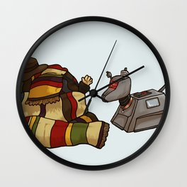 4th Doctor and K-9 Wall Clock