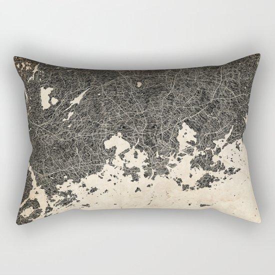 helsinki map ink lines 2 Rectangular Pillow