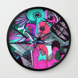 the color of money Wall Clock