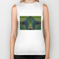 lantern Biker Tanks featuring Lantern Flame by Avril Harris